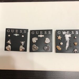 Guess Two-Tone Mix and Match Stud Ea Mixed Metal